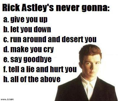 Rick Astley - Never going to?