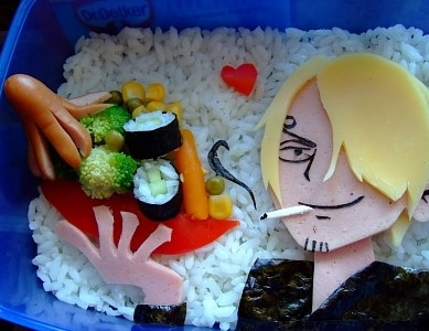 Anime inspired bento boxes