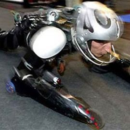 Human bobsled vs Motorcycle