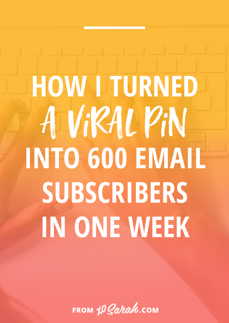 If you're still wondering if it's worth putting time into creating images for and learning to use Pinterest, this post is for you! Here's how I got a MASSIVE boost in traffic from Pinterest and generated over 600 email subscribers in ONE WEEK.