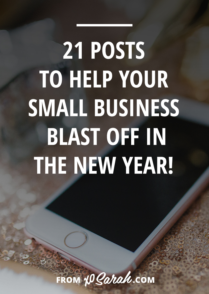 This year is drawing to a close and if you've got big dreams to knock out next year, I've got plenty of posts to help! Here are 21 of my best business-building posts from the past four years of growing my own creative biz online!