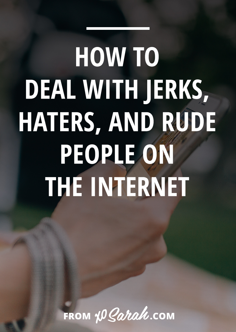 Since I've had a few people leaving rude comments on my blog lately I figured it was time to pass along my guide to not letting jerks, haters, and rude people ruin your love of sharing yourself, your time, and your expertise online.