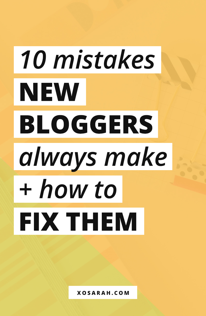 Attention beginner blogger: Wondering how to start a blog and make money online? Here a list of the top 10 blogging mistakes to avoid plus tips for how to fix them.