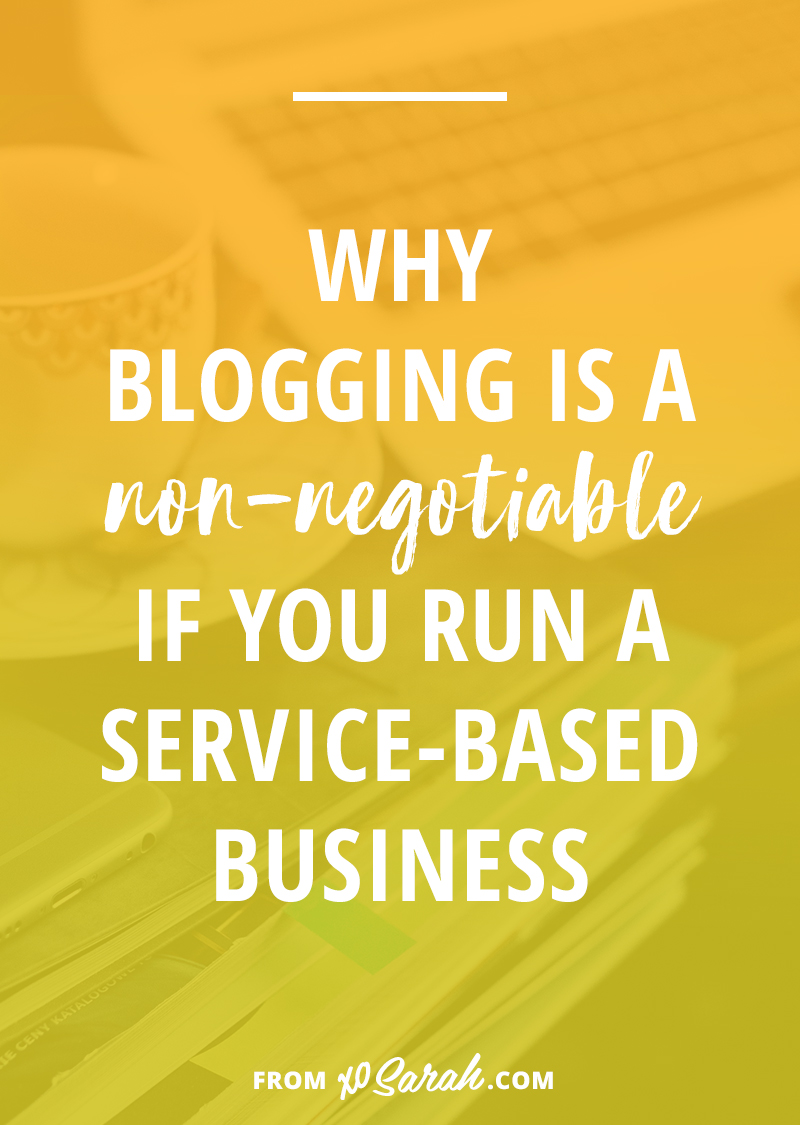 If you aren't blogging for your service-based business (freelancing, coaching, etc) you could be missing out on hundreds of new clients. Click through to find out why your blog will be your #1 employee, helping to score new clients and customers EVERY SINGLE DAY.