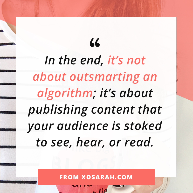 Are we done panicking over algorithms yet? from XOSarah.com