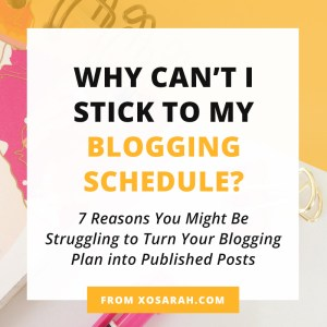 If you're stuck in the blog planning stage, here are 7 things that might be causing you to be inconsistent in blogging and how to get past those roadblocks and back on track.