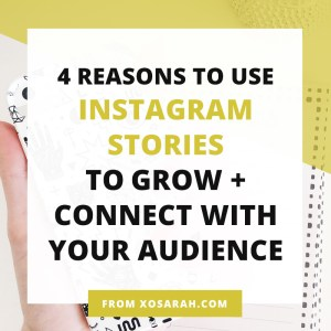 Instagram is one of the best ways to grow and connect with your audience. Here's why every blogger and business owner should take advantage of this marketing strategy asap.