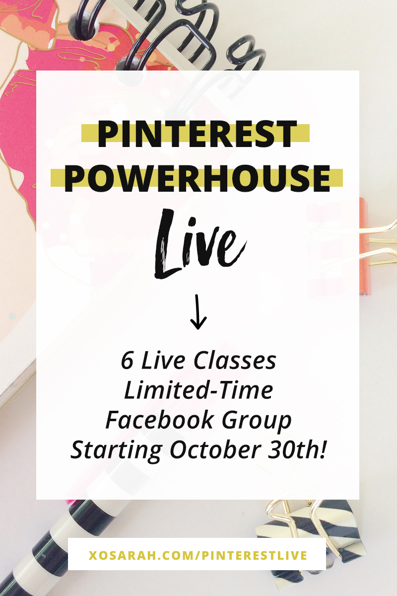 Learn how to grow your blog traffic with Pinterest! Watch the live classes to learn how to set up your profile, write pinnable blog posts, design clickable pins, and my 10-minute pinning strategy.