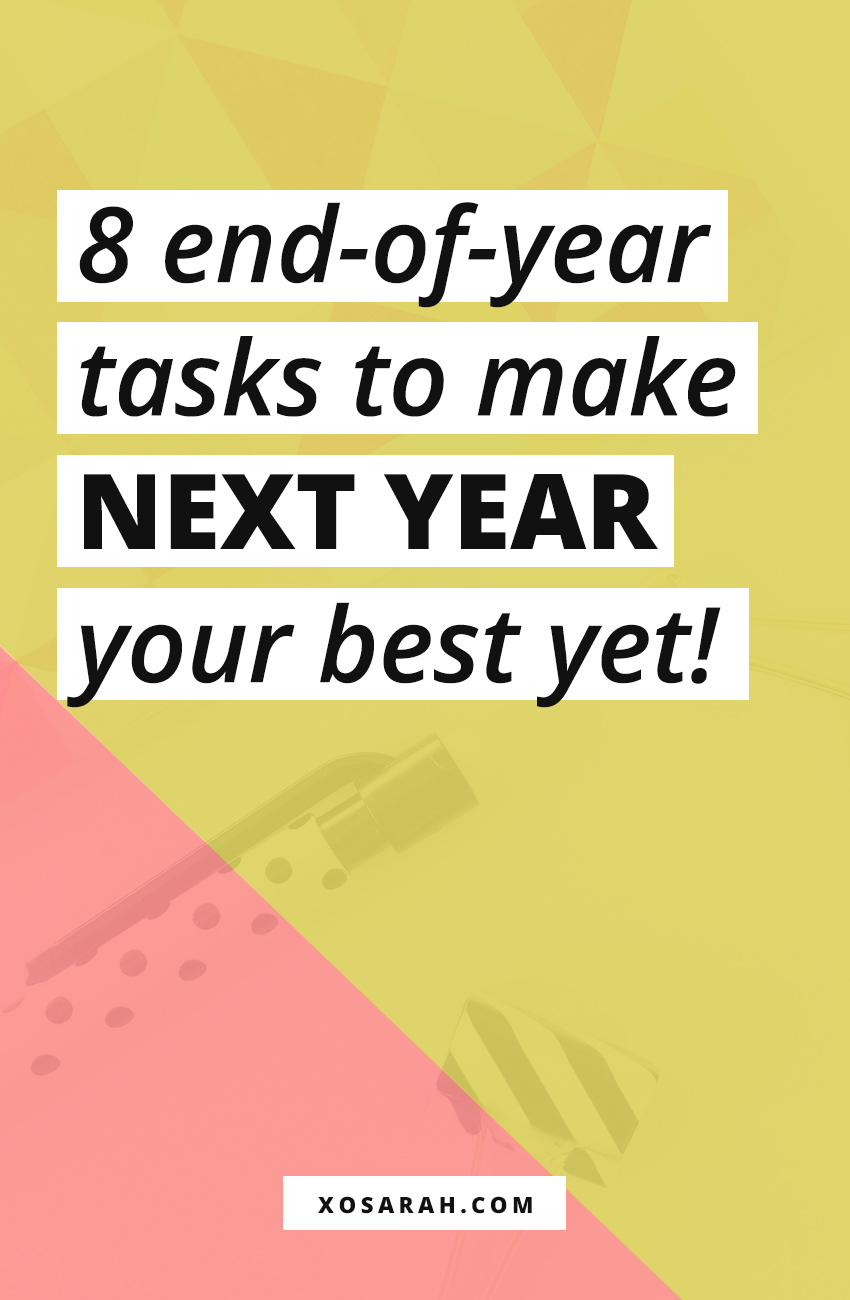 Making plans for the new year? Here are 8 tasks every blogging and business owner should check off for successful new year planning and goal setting.