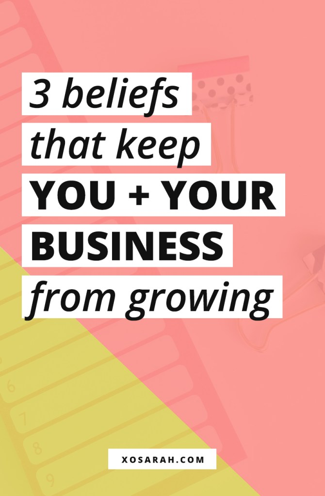 Stuck trying to grow your business, get more clients, grow your traffic, or get more followers on Instagram - these 3 mindset issues might be holding you and your business back.