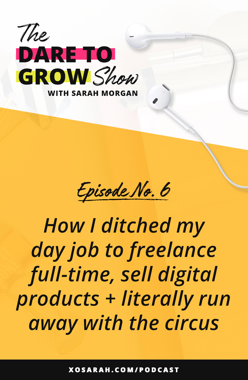 If you're interested in hearing how I went from corporate web designer, to freelancer, to creating digital products, and now solely focusing on education + coaching for online business owners, and yes spending time as a circus performer - this episode is for you!