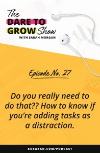 Do you really need to do that?? How to know if you're adding tasks as a distraction. Hey solopreneur! If your to-do list is overwhelming, you're missing deadlines, and not hitting your goals like you hoped, this post is for you. You might feel busy but actually be procrastinating with unnecessary tasks that are slowing you down.