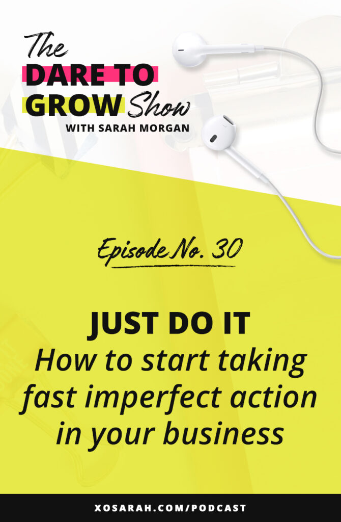 In this week's episode of The Dare to Grow Show we're chatting about why it's so hard to stop over-planning and overthinking and focus on DOING. If you need help with motivation, productivity, and getting to the next level in your online business, this podcast episode is for you!