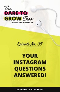 Answering your Instagram questions: how to get more engagement, how many links to put in your bio, how to show up as an introvert, and more!