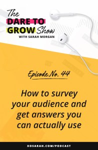 Sending out a yearly survey to your audience or past clients or customers is one of the best ways to understand what they're working toward, where they're getting stuck, and what they need from you to accomplish their goals. Here are 3 questions you need to ask.