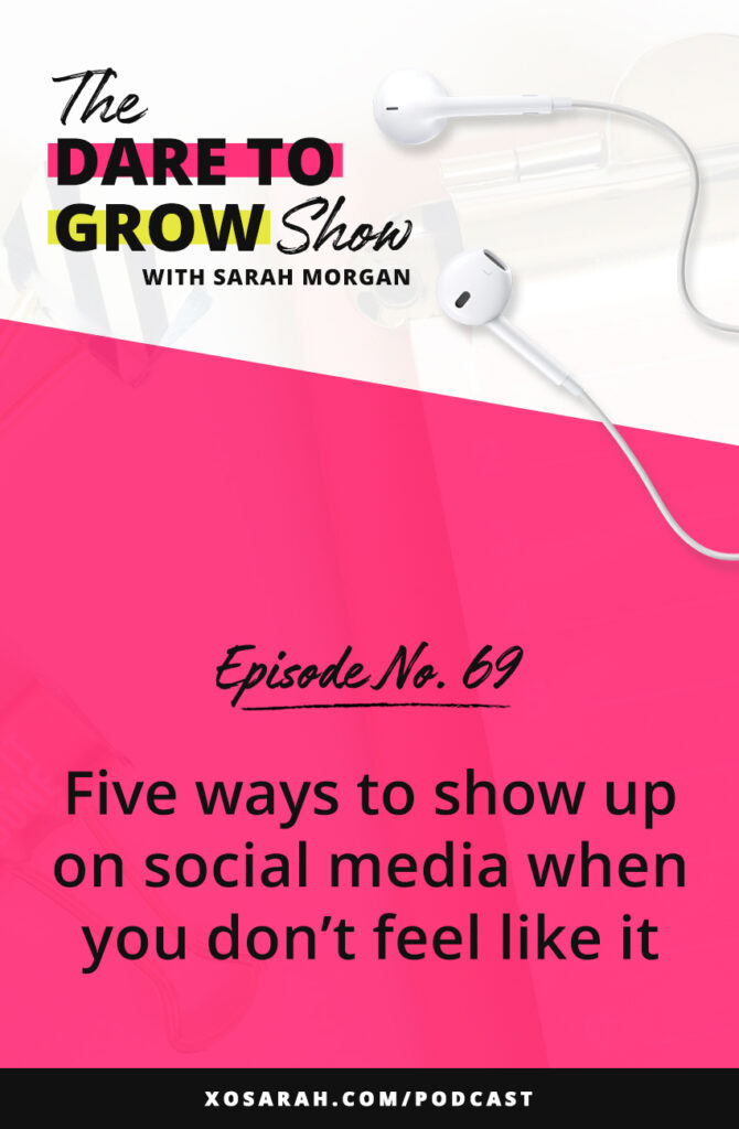 Whether it's a bad day or a busy week, sometimes you just won't feel like posting on Instagram. Here are 5 ways to still show up and create content when you're not inspired or in the mood.