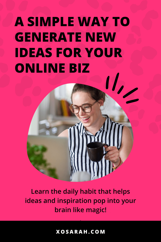 Check out this surprisingly simple solution to coming up with new ideas for your business, without having to do a ton of research! xosarah.com