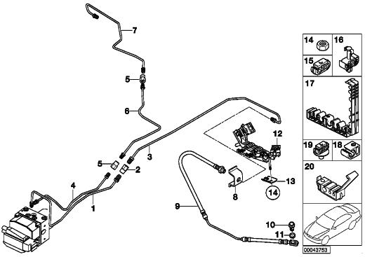 bmw brake line diagram