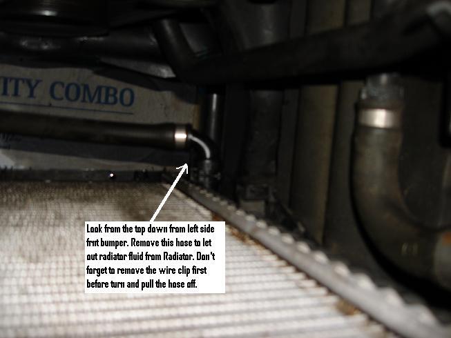 Drain Plug (Radiator Flush DIY X5 2003 4.4i)
