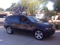 X5 with roof mounted bike racks - Xoutpost.com