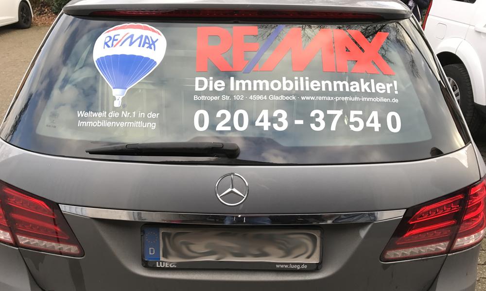 Fahrzeugbeschriftung RE/MAX