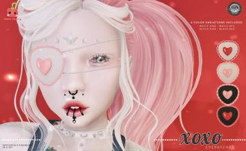 Cubic Cherry - XOXO Eyepatch http://maps.secondlife.com/secondlife/Oblivion/159/61/2421