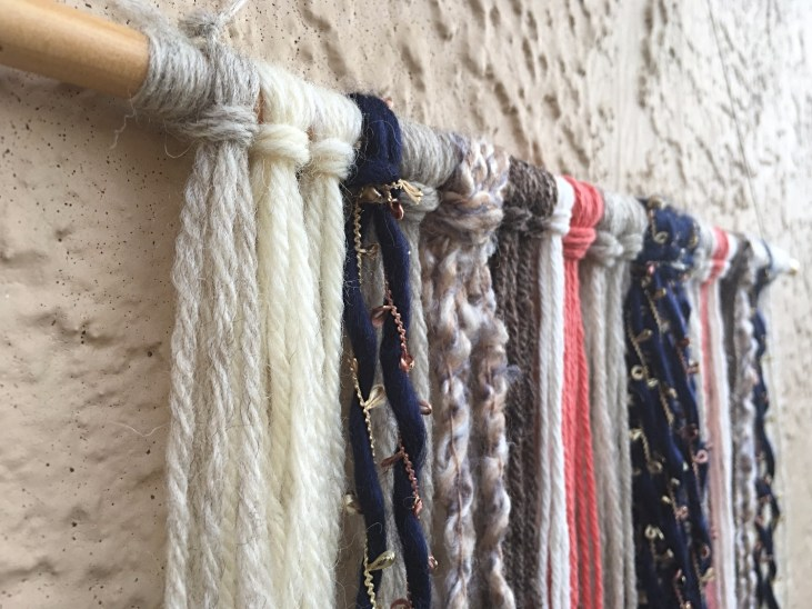 DIY Yarn Wall Hangings diy