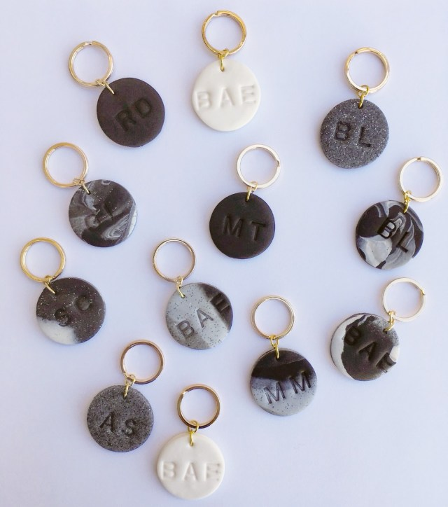DIY: Personalized Clay Keychains diy