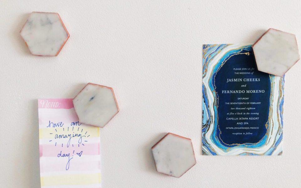 Easy DIY Carrara Marble Magnets