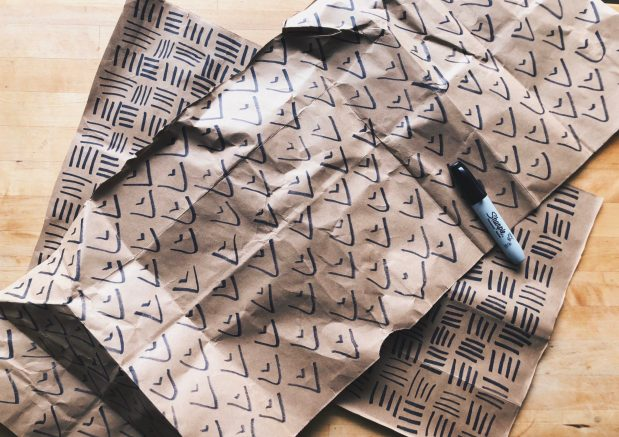 DIY Minimalist Wrapping Paper diy
