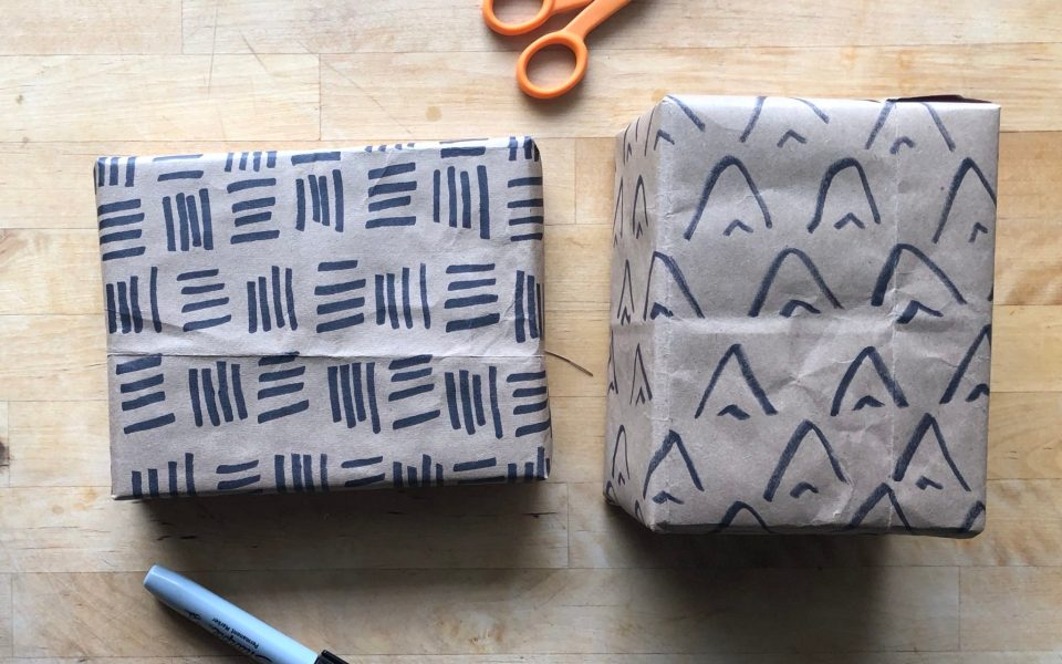 DIY Minimalist Wrapping Paper