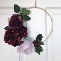 DIY Seasonal Hoop Wreaths
