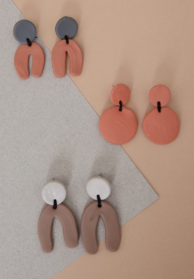 Neutrals Polymer Clay Earring Collection DIY diy