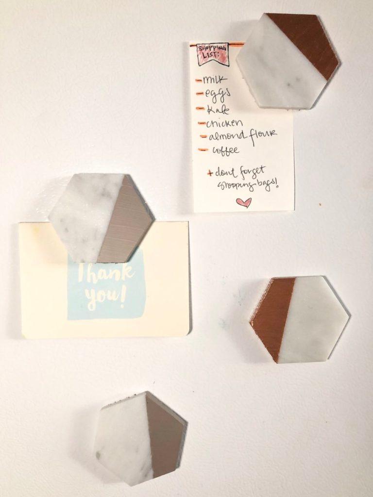 DIY Dip Dye Marble Magnets diy