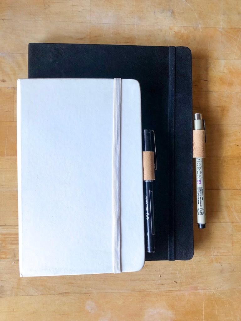 Leather pen holster diy for notebooks diy