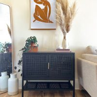Easy Target Furniture Update: Spray Painted Cane Cabinet