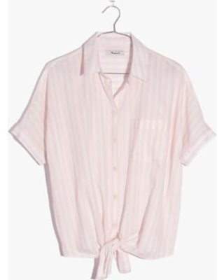madewell-short-sleeve-tie-front-shirt-in-pink-stripe
