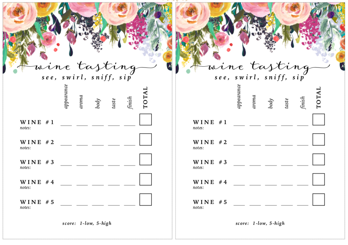 photograph about Wine Tasting Sheets Printable identified as web hosting a rosé tasting xoxostacyb