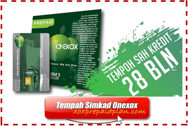 Pakej Promosi Prepaid Terbaru ONEXOX