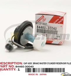 details about genuine lexus 99 01 rx300 brake master cylinder reservoir filler cap 84460 30040 [ 1000 x 1000 Pixel ]