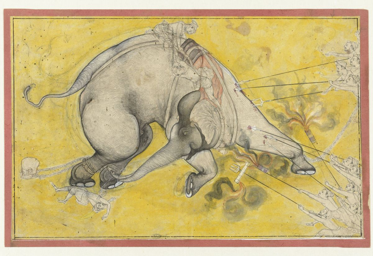 Taming the wild elephant, Anonymous, c. 1725 - c. 1745 Source Graphic courtesy of : The Rijksmuseum Website