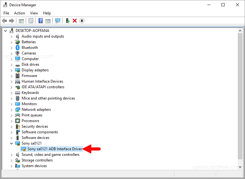 device manager driver install