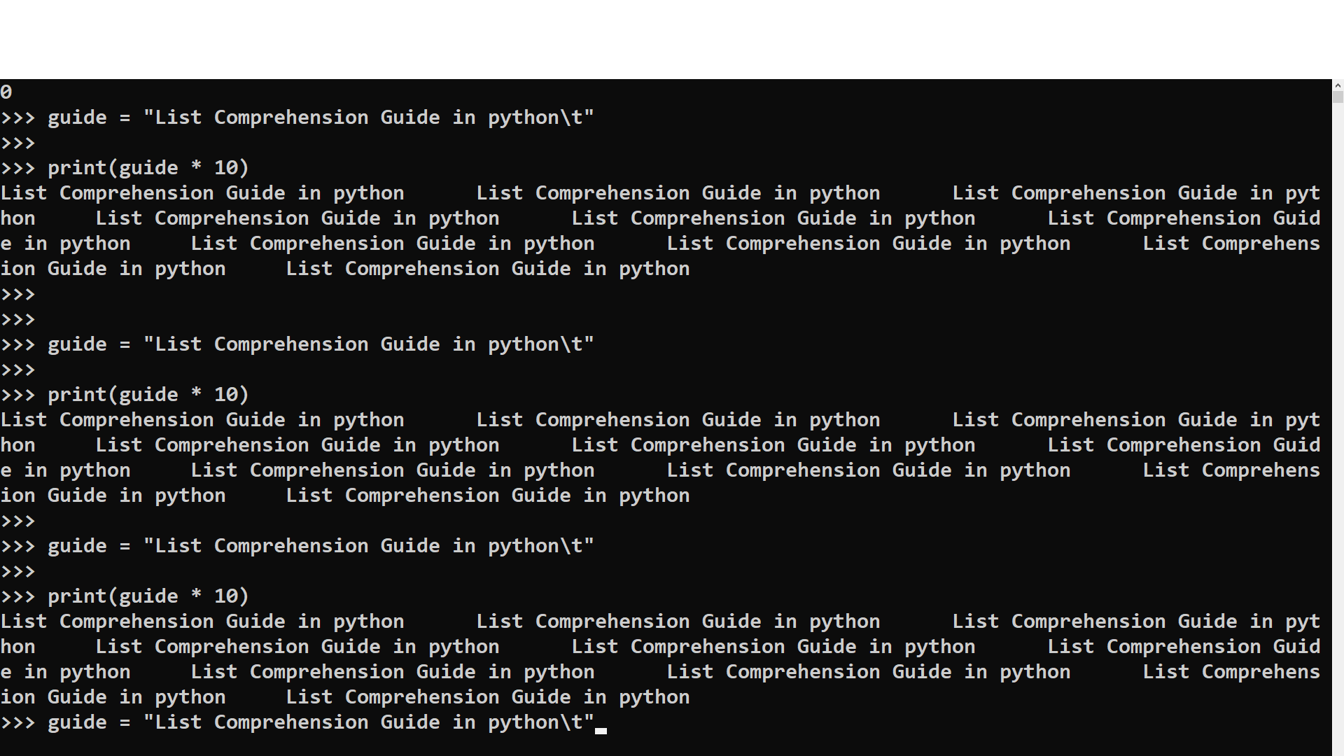 List Comprehension Guide in python