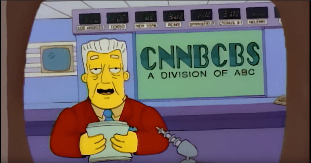 Simpsons Predicts, big Giants going to gobble up