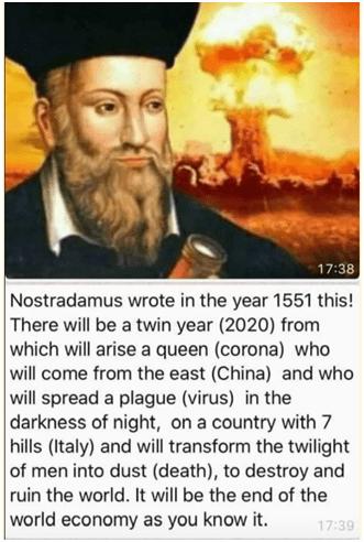Nostradamus Corona 2021