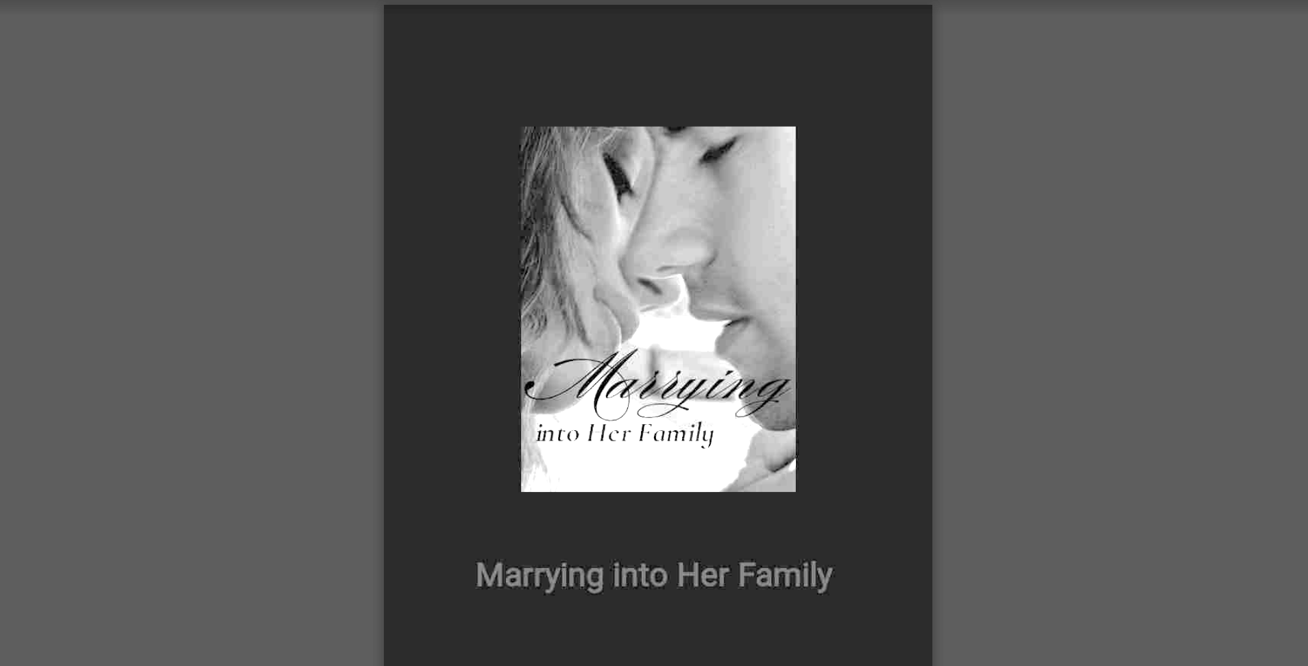 Marrying into her family novel