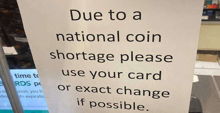 Image of Federal Reserve coin shortage