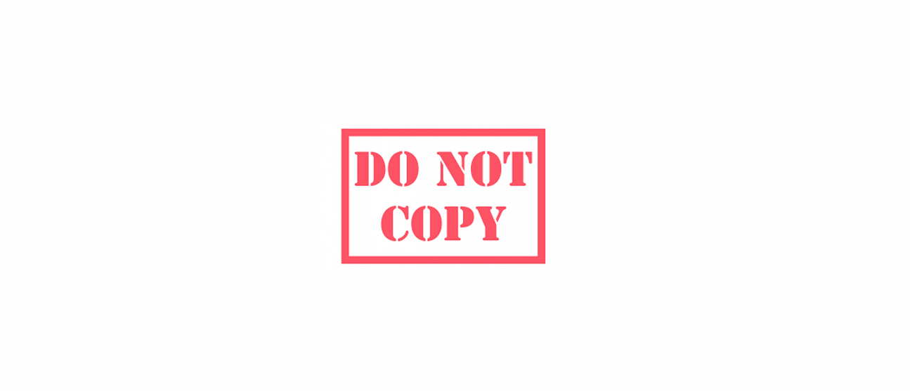 Please Do Not Copy