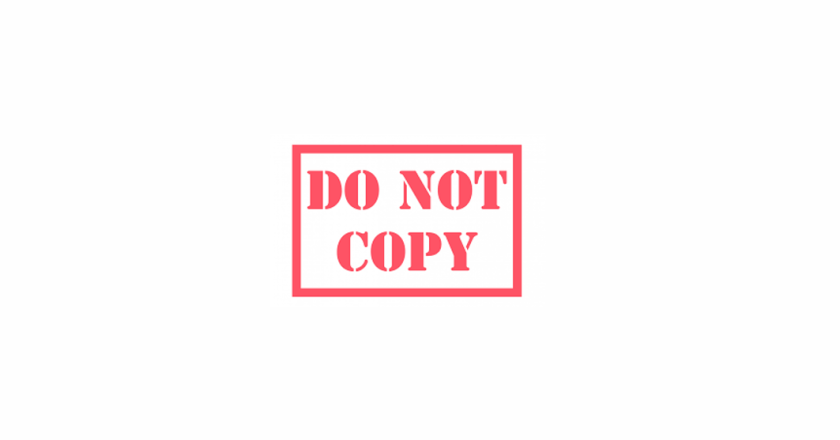 Please Do Not Copy Paste Others' Work on Your Websites