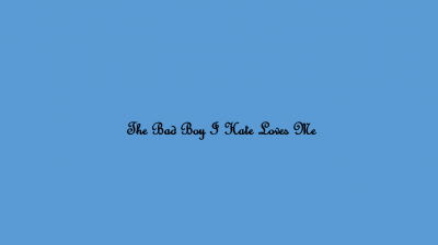 The Bad Boy I Hate Loves Me Novel Story & Review